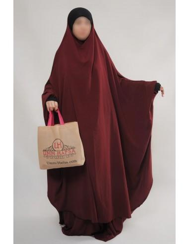 """Two Piece Jilbab Hafsa """"Skirt"""" Umm Hafsa– Burgundy"""