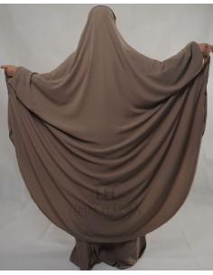"""Jilbab Hafsa 2 pieces """"jupe"""" Umm Hafsa – Taupe"""