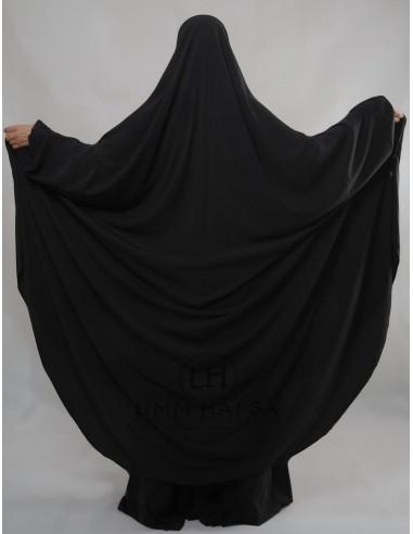 """Two Piece Jilbab Hafsa """"Skirt"""" Umm Hafsa– Black"""