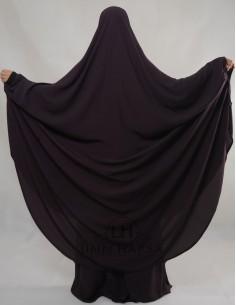 """Jilbab Hafsa 2 pieces """"jupe"""" Umm Hafsa – Prune"""