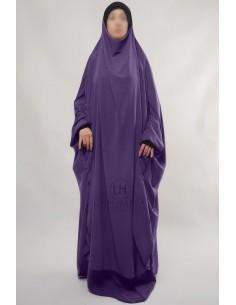 "Zweiteilige Jilbab Hafsa ""Rock"" Umm Hafsa– Aubergine farbe"