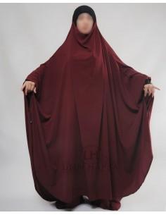 """Two Piece Jilbab Hafsa """"Sirwel"""" Umm Hafsa– Burgundy"""