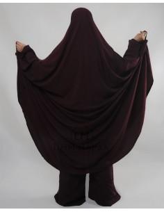 "Two Piece Jilbab Hafsa ""Sirwel"" Umm Hafsa– Purple"