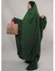 """Jilbab Hafsa 2 pieces """"Sarouel"""" Umm Hafsa – Vert Sapin"""