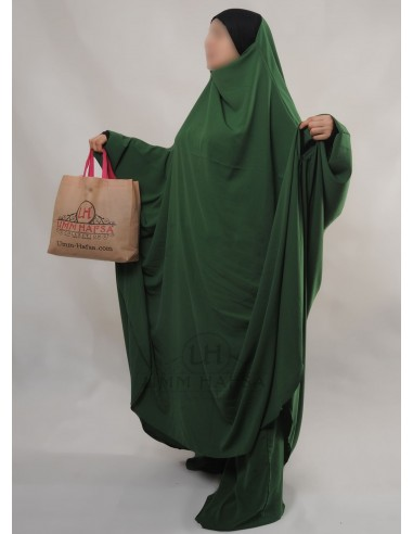 "Two Piece Jilbab Hafsa ""Sirwel"" Umm Hafsa – Fir Green"