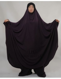"Jilbab Hafsa 2 pieces ""Sarouel"" Umm Hafsa – Aubergine"