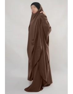 "Two Piece Jilbab Hafsa ""Sirwel"" Umm Hafsa – Brown"