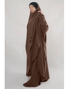 "Two Piece Jilbab Hafsa ""Sirwel"" Umm Hafsa– Brown"