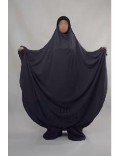 """Jilbab Hafsa 2 pieces """"Sarouel"""" Umm Hafsa – Gris"""