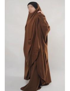 "Two Piece Jilbab Hafsa ""Sirwel"" Umm Hafsa– Cinnamon"
