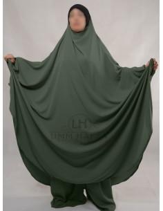 """Two Piece Jilbab Hafsa """"Sirwel"""" Umm Hafsa– Green"""