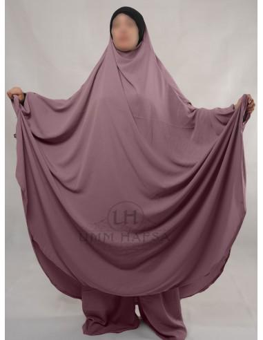 "Two Piece Jilbab Hafsa ""Sirwel"" Umm Hafsa– Old Pink"