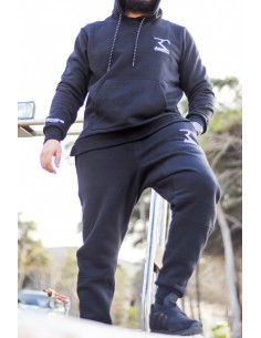 Sarouel Jogging 100% Baumwolle Rayane - Schwarz