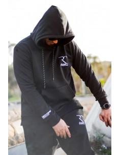 Übergroße 100% Baumwolle Rayane Sweatshirt – Schwarz