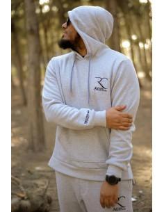 Übergroße 100% Baumwolle Rayane Sweatshirt – Grau