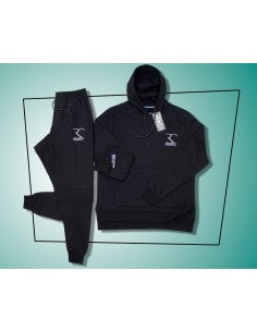Rayane 100% Cotton Tracksuit - Black