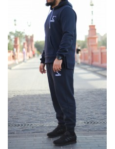 Rayane 100% Cotton Tracksuit - Blue