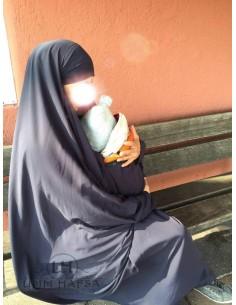 """Jilbab de maternage/portage """"jupe"""" Umm Hafsa - Gris"""