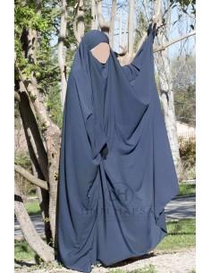 Big jilbab Saudi Umm Hafsa - Blue