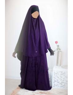 Ensemble Abaya/hijab Maryam Umm Hafsa – Aubergine