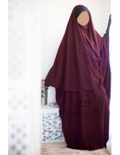 Abaya/Hijab Maryam Umm Hafsa – Burgund