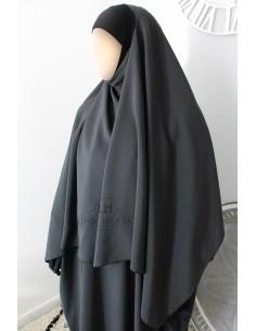 Hijab / Khimar Lycra Umm Hafsa - Grau