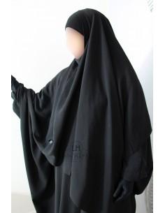 Hijab / Khimar Lycra Umm Hafsa - Schwarz
