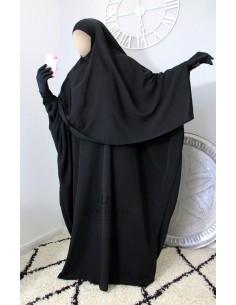 Abaya/Hijab Lycra Umm Hafsa - schwarz