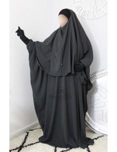 Abaya/Hijab Lycra Umm Hafsa - grau
