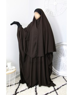 Ensemble Abaya/hijab Maryam Umm Hafsa – Marron