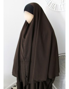 Hijab / Khimar Maryam Umm Hafsa - Marron
