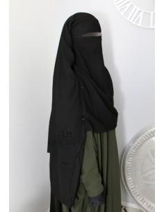 Niqab- Cape von Umm Hafsa 1m50 - schwarz