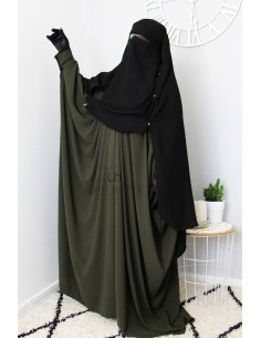 Niqab Cape Flap with Snap Buttons 1m60 - Black