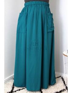 Jupe à poches Umm Hafsa - Vert Canard