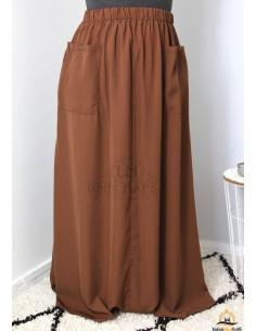 Jupe à poches Umm Hafsa- Cannelle