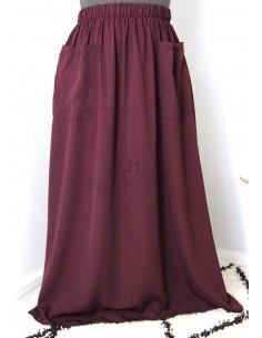Jupe à poches Umm Hafsa - Prune