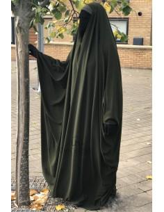 Big saudischer Jilbab Umm Hafsa V-Ausschnitt - Khaki