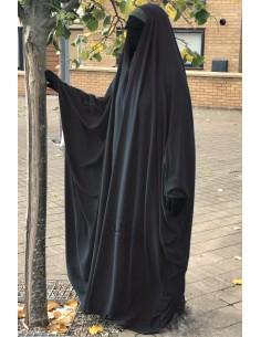 Big saudischer Jilbab Umm Hafsa V-Ausschnitt - Grau
