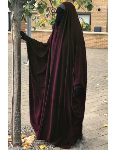 Big Jilbab Saoudien Umm Hafsa Col V - Bordeaux