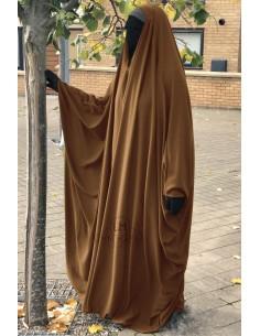 Big Jilbab Saoudien Umm Hafsa Col V - Cannelle