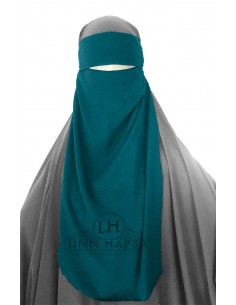 One Layer Niqab adjustable Umm Hafsa - Green Duck
