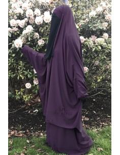 "Jilbab 2 pieces Classique ""jupe"" Umm Hafsa ""Caviary"" - Prune"