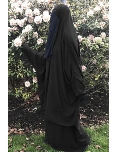 """Jilbab 2 pieces Classique """"jupe"""" Umm Hafsa """"Caviary"""" - Noir"""
