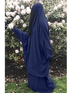 "Two Piece Jilbab Classic ""Skirt"" Umm Hafsa ""Caviary"" - Blue"