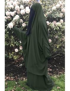 """Jilbab 2 pieces Classique """"jupe"""" Umm Hafsa """"Caviary"""" - Kaki"""
