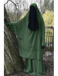 """Two Piece Jilbab Classic """"Skirt"""" Umm Hafsa - Fir Green"""