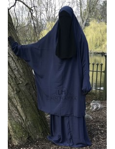 "Jilbab 2 pieces Classique ""jupe"" Umm Hafsa - Bleu"