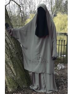 "Two Piece Jilbab Classic ""Skirt"" Umm Hafsa - Taupe"