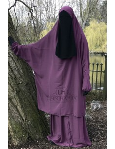 "Two Piece Jilbab Classic ""Skirt"" Umm Hafsa - Old Pink"