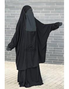 "Jilbab 2 pieces Classique ""jupe"" Umm Hafsa ""NIDHA"" - Noir"